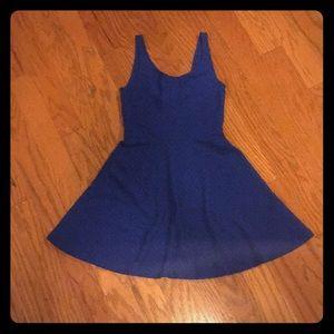 Textured blue dress!